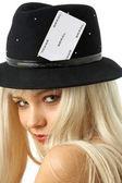 Gambling girl — Stock Photo