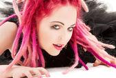 Pink hair girl — Stock Photo