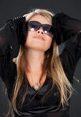 Woman in shades — Stock Photo
