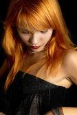 Dark redhead portrait — Stock Photo