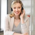 Friendly female helpline operator — Stock Photo #11839706