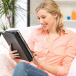 Happy woman with tablet pc computer — Stock Photo #11963012