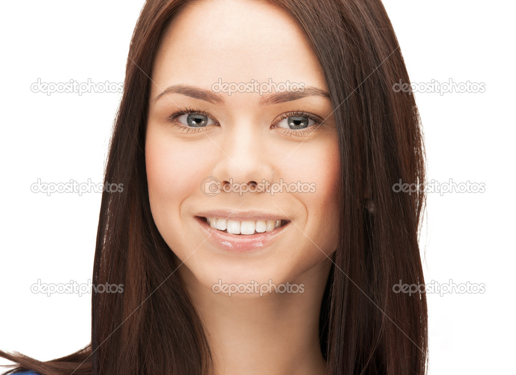 Bright picture of happy and smiling woman — Stock Photo #12091736