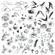 Royalty-Free Stock Imagen vectorial: Lovely doodles.