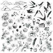 Lovely doodles. — Stock Vector