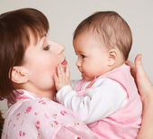 Holding baby — Stock Photo