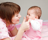 Playing with baby — Stock Photo
