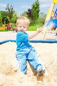 Kid playing — Stock Photo