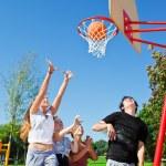 Teenagers playing basketball — Stock Photo #11630146