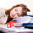 Tired young woman — Stock Photo #11630910