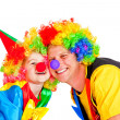 Stock Photo: Smiling clowns