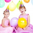 Balloon girls - Stock Photo