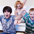 Shouting teenagers — Stock Photo