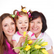 Daughter, mother and grandmother — Stock Photo