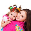 Laughing kid and her mother — Stock Photo