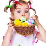Surprised Easter kid — Stock Photo