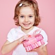 Happy girl with present — Stock Photo #11632734