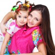 Girl and her mother — Stock Photo