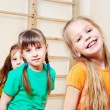 Cheerful kids group - Stock Photo