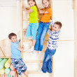 Stock Photo: Sportive kids