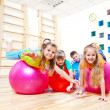 Gymnastic balls — Stock Photo
