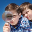 Royalty-Free Stock Photo: Looking through magnifying glass