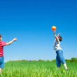 Active boys playing — Stock Photo #11633449