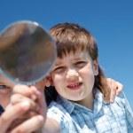 Kids exploring world — Stock Photo #11633480