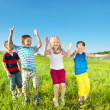 Kids group on a summer day — Stock Photo