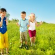 Active soaked kids - Stock Photo