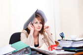 Stressed young woman — Stock Photo