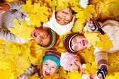 Autumnal kids — Stock Photo