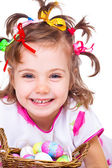 Laughing girl portrait — Stock Photo