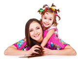 Daughter embracing mom — Stock Photo