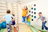 Children enjoying gym class — Stock Photo