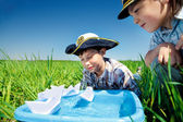 Little captains — Stock Photo