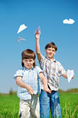 Samoloty z papieru — Zdjęcie stockowe