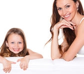 Beautiful mother and daughter — Stock Photo