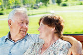 Happy senior couple — Stockfoto