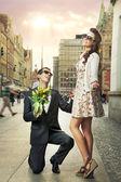 Engagement-vorschlag — Stockfoto