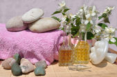 Ingredients for spa and massage — Stock Photo