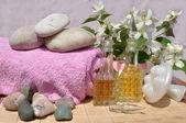 Ingredienti per spa e massaggio — Foto Stock