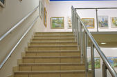 Stairway on first floor — Stock Photo