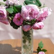 Bouquet of the tea roses — Stock Photo