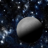 Moon with deep space background — Stock Photo
