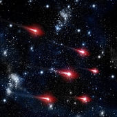 Comet flying in the deep space — Stock Photo
