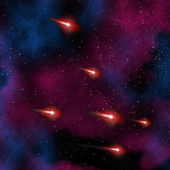Comet in the night sky — Stock Photo