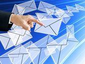 スパム e メールでメールを選択してください。 — ストック写真