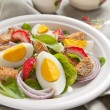 Salad with egg — Stock Photo