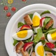 Salad with egg — Stock Photo #10979490